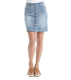 Ruff Hewn Button Down Denim Skirt