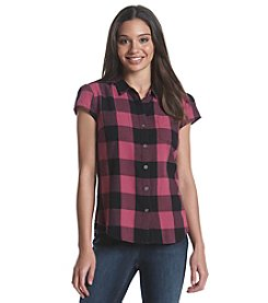 Ruff Hewn Plaid Cap Sleeve Top