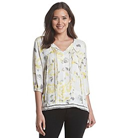 Nine West Jeans® Floral Pintuck Top