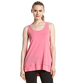 Calvin Klein Performance Distressed Keyhole Tank