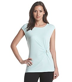 Ivanka Trump® Matte Ruched Top