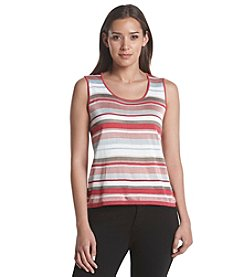 Anne Klein® Striped Sweater Tank