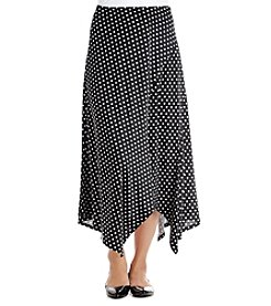 Relativity® Asymmetric Dot Patterned Spliced Skirt