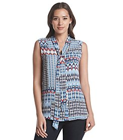 Relativity® Sleeveless Bow Blouse