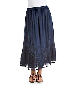 Studio West Long Lace Trim Enzyme Skirt