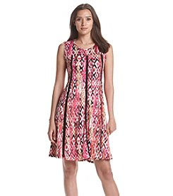 Notations® Printed Sleeveless Dress