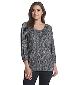 MICHAEL Michael Kors® Tweed Peasant Top