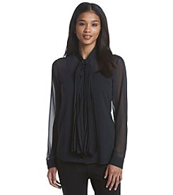 MICHAEL Michael Kors® Pleated Neck Tie Top