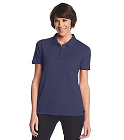 Studio Works® Petites' Short Sleeve Solid Color Polo