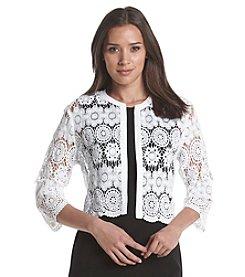 Anne Klein® Crochet Cardigan
