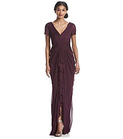 Adrianna Papell® Pintucked Drape Gown Dress