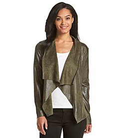 Ruff Hewn Washed Faux Suede Flyaway Jacket