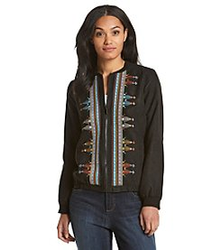 Ruff Hewn Embroidered Bomber Jacket