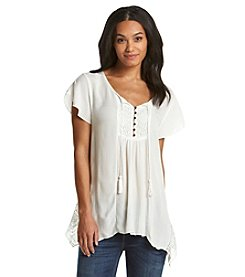 Oneworld® Wedge Sleeve Peasant Top