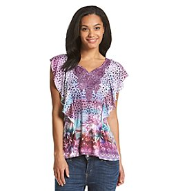 Oneworld® Elephant Scoop Neck Top