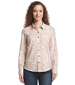 Ruff Hewn High Low Printed Gauze Shirt