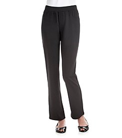 Exertek® Petites' Solid Color Ponte Pants