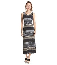G.H. Bass & Co. Stamped Stripes Maxi Dress