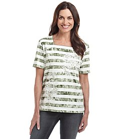 Alfred Dunner® Petites' Cyprus Printed Knit Top