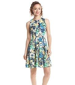 Julian Taylor Floral Scuba Dress