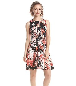 Julian Taylor Fit And Flare Scuba Dress