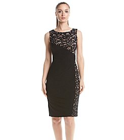 R&M Richards® Panel Lace Sheath Dress
