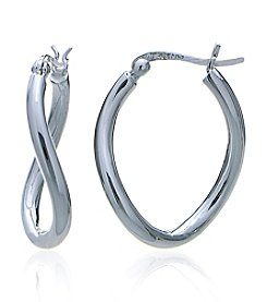 Designs by FMC Sterling Silver Organic Round Hoop Click-Top Earrings