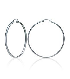 Sterling Silver Polished Click-Top Hoop Earring