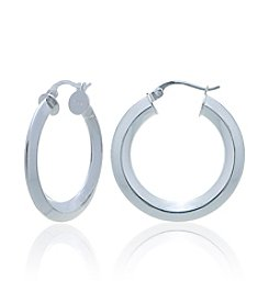 Designs by FMC Sterling Silver Knife Edge Hoop Earrings