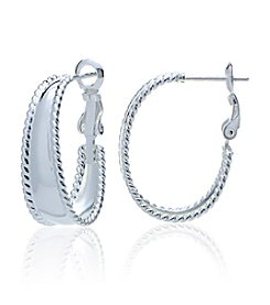 Designs by FMC Sterling Silver Clutchless Hoop Earrings
