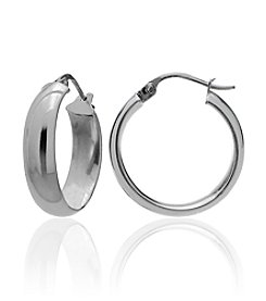 Designs by FMC Sterling Silver Polished Click-Top Hoop Earrings