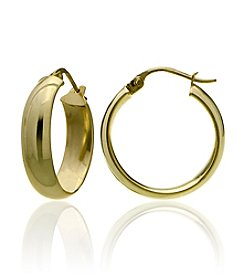 Designs by FMC 18K Gold Plate over Sterling Silver Hoop Earrings