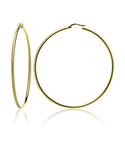 Designs by FMC 18K Gold Plate over Sterling Silver Polished Hoop Earrings