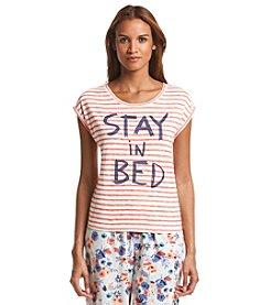 HUE® Printed Pajama Top