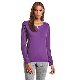 Relativity® Henley Pajama Shirt