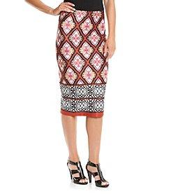 Sequin Hearts® Printed Scuba Skirt