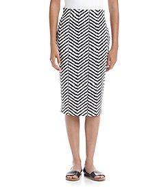 Sequin Hearts® Chevron Midi Scuba Skirt