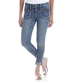 Hippie Laundry Zip Pocket Roll Cuff Skinny Jeans