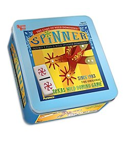 Puremco® Spinner Dominoes - Texas Wild Domino Game Tin