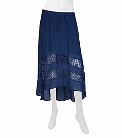 A. Byer Lace Tiered Skirt