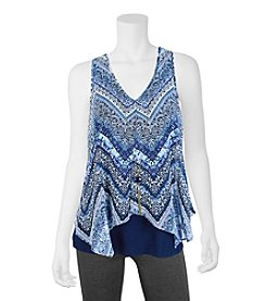 A. Byer Chevron Top With Necklace