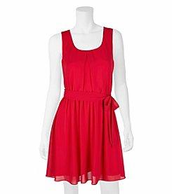 A. Byer Lace Back Dress