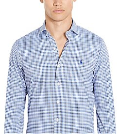 Polo Ralph Lauren® Men's Performance Twill Long Sleeve-Sport Shirt