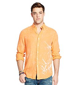 Polo Ralph Lauren® Men's Linen Graphic Sport Shirt
