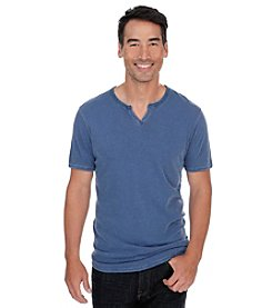 Lucky Brand® Men's Short Sleeve Slub Notch Tee