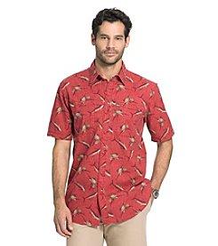 G.H. Bass & Co. Men's Explorer Short Sleeve Printed Button Down Shirt