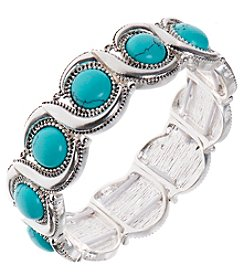 Nine West Vintage America Collection® Silvertone Wave Stretch Bracelet