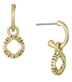 The Sak® Goldtone Disc Hoop Drop Earrings