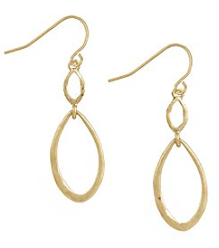 The Sak® Goldtone Open Double Drop Earrings