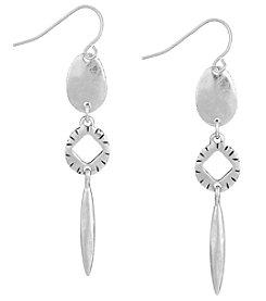 The Sak® Silvertone Triple Drop Linear Earrings